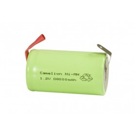 Camelion - Camelion D/LR20 8000mAh with U-solder lips 1.2V NimH Rechargeable - Size C D and XL - BS376-CB