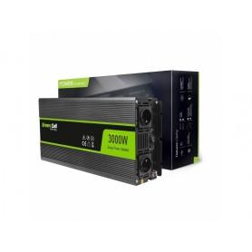 Green Cell - 6000W DC 12V naar 2x AC 230V met USB Stroom Inverter Converter - Zonnepanelen en Windturbines - GC034 www.NedRo.nl