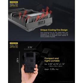 NITECORE - Încărcător dublu USB Nitecore USN4 Pro pentru bateriile Sony NP-FZ100 - Sony încărcătoare foto-video - MF009 www.N...