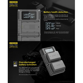 NITECORE, Nitecore USN4 Pro double USB charger for Sony NP-FZ100 batteries, Sony photo-video chargers, MF009