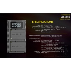 NITECORE, Nitecore USN3 Pro dubbel USB lader voor Sony Camera Accu, Sony foto-video laders, MF007, EtronixCenter.com