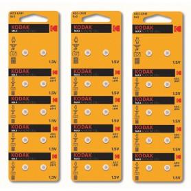 Kodak - Kodak Max Alkaline AG3 SR41W/392 1.5V Watch Battery - Button cells - BS379-CB www.NedRo.us