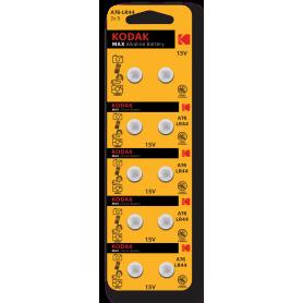 Kodak - Kodak AG13/LR44/76A/V13GA/A76 1.5v Alkaline knoopcel batterij - Knoopcellen - BS382-CB www.NedRo.nl