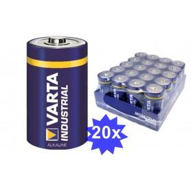 Varta, Varta Industrial D/LR20 alkalinebatterij - 20 Stuks, C D 4.5V XL formaat, BS383-CB, EtronixCenter.com