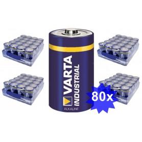 Varta - Varta Industrial D/LR20 Alkaline - Size C D 4.5V XL - BS383-CB www.NedRo.us