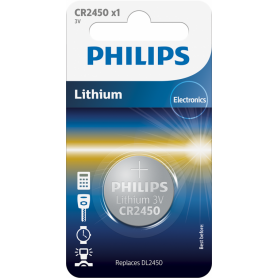 PHILIPS, Philips CR2450 3v baterie plata cu litiu, Baterii plate, BS028-CB, EtronixCenter.com