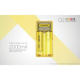 NITECORE - NITECORE Q2 2-Bay 2A Quick Battery Charger for Li-ion IMR - Battery chargers - NK472-CB