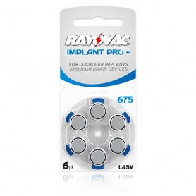 Rayovac - Rayovac 675 IMPLANT PRO+ Hearing Aid Battery - Button cells - BL256-CB www.NedRo.us