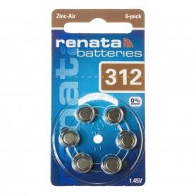 Renata - Renata ZA 312 Gehoorapparaat batterijen - Knoopcellen - NK403-CB www.NedRo.nl