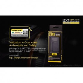 NITECORE - Nitecore double USB charger for Sony NP-BX1 - Sony photo-video chargers - MF013