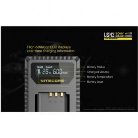 NITECORE, Nitecore încărcător USB dublu pentru Sony NP-BX1, Sony încărcătoare foto-video, MF013, EtronixCenter.com