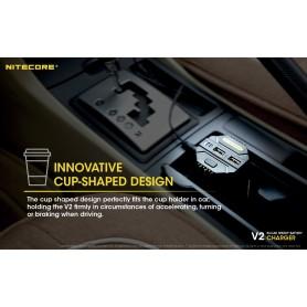 NITECORE - Nitecore V2 3A Li-ion IMR Ni-MH NiCd battery car charger - Battery chargers - MF015 www.NedRo.us