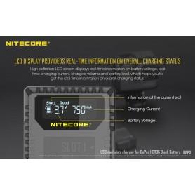 NITECORE - Nitecore UGP5 dubbel USB lader voor Hero5 Black - GoPro foto-video laders - MF017 www.NedRo.nl