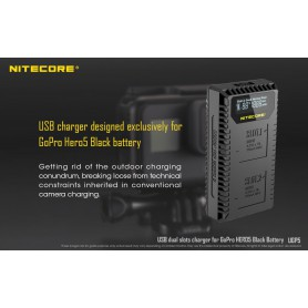 NITECORE - Nitecore UGP5 double USB charger for Hero5 Black - GoPro photo-video chargers - MF017 www.NedRo.us