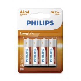 PHILIPS - AA R3 Philips Longlife Zinc Alkaline - Size AA - BS391-CB www.NedRo.us