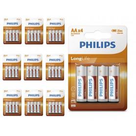 PHILIPS - Philips Longlife Zinc AA/R6 alkalinebatterij - AA formaat - BS391-CB www.NedRo.nl