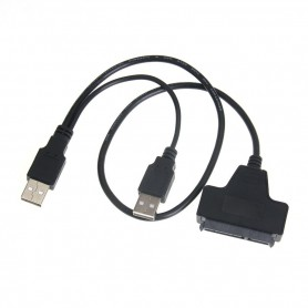 "NedRo - USB 2.0 to SATA 7+15 Pin Adapter for 2.5"" HDD Hard Disk Drive - Molex and Sata Cables - AL328 www.NedRo.us"
