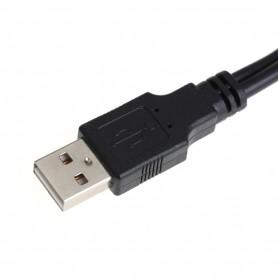 "NedRo - Adaptor USB 2.0 la SATA 7 + 15 pini pentru unitatea HDD de 2.5"" - Cabluri Molex și Sata - AL328 www.NedRo.ro"