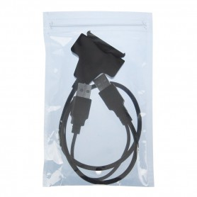 "NedRo - USB 2.0 naar SATA 7 + 15-pins adapter voor 2.5"" HDD harde schijf - Molex en Sata kabels - AL328 www.NedRo.nl"
