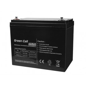 Green Cell - Green Cell 12V 75Ah VRLA AGM Battery with B4 Terminal - Battery Lead-acid  - GC059 www.NedRo.us
