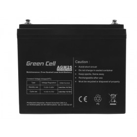 Green Cell - Green Cell 12V 75Ah VRLA AGM accu met B4 Terminal - Loodaccu - GC059 www.NedRo.nl