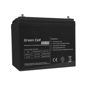 Green Cell - Green Cell 12V 75Ah VRLA AGM Battery with B4 Terminal - Battery Lead-acid  - GC059