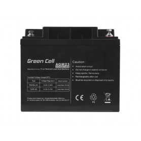 Green Cell - Green Cell 12V 44Ah VRLA AGM Battery with B4 Terminal - Battery Lead-acid  - GC058 www.NedRo.us