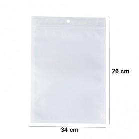 NedRo - Pungi de plastic cu glisier auto-sigiliu alb-transparent cu gaură - Afișaj și ambalare - TB009-CB www.NedRo.ro