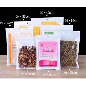 NedRo - Wit-doorzichtige plastic zakken met ritssluiting en gat - Display en Verpakking - TB009-CB www.NedRo.nl