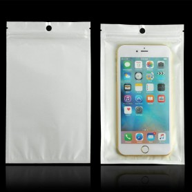 Oem - White-clear self seal zip ziplock plastic bags with hang hole - Display and Packaging - TB009-CB