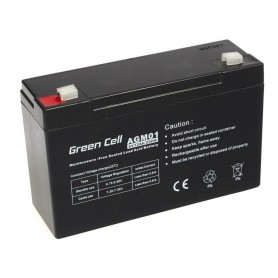 Green Cell, Green Cell 6V 12Ah (4.6mm) 12000mAh VRLA AGM Battery, Battery Lead-acid , GC049, EtronixCenter.com