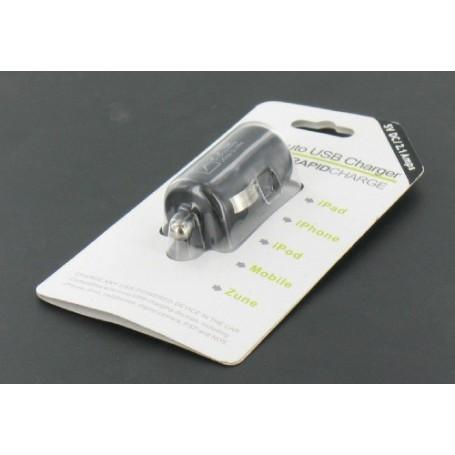 NedRo - USB 2,1A Autolader Zwart voor Smartphones en Tablets YAI475 - Aanstekerplugs - YAI475 www.NedRo.nl