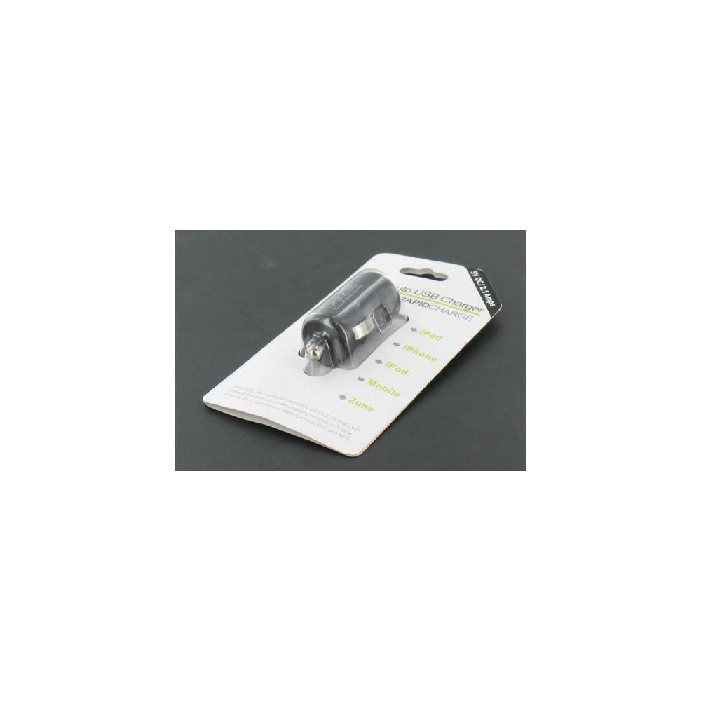 USB 2,1A Autolader Zwart voor Smartphones en Tablets YAI475