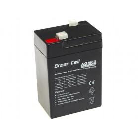 Green Cell - Green Cell 6V 4.5Ah (4.6mm) 4500mAh VRLA AGM accu - Loodaccu - GC050 www.NedRo.nl