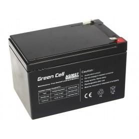 Green Cell - Green Cell 12V 12Ah (6.3mm) 12000mAh VRLA AGM Battery - Battery Lead-acid  - GC052 www.NedRo.us