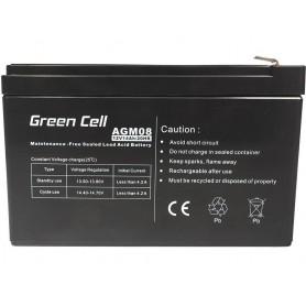 Green Cell, Green Cell 12V 14Ah (6.3mm) 14000mAh VRLA AGM Battery, Battery Lead-acid , GC053