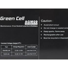 Green Cell - Green Cell 12V 18Ah (11mm) 18000mAh VRLA AGM accu - Loodaccu - GC054 www.NedRo.nl