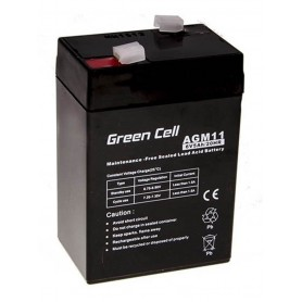 Green Cell, Green Cell 6V 5Ah (4.6mm) 5000mAh VRLA AGM Battery, Battery Lead-acid , GC055, EtronixCenter.com