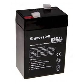 Green Cell - Green Cell 6V 5Ah (4.6mm) 5000mAh VRLA AGM Battery - Battery Lead-acid  - GC055 www.NedRo.us