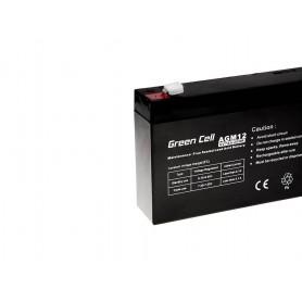 Green Cell, Green Cell 6V 7Ah (4.6mm) 7000mAh VRLA AGM Battery, Battery Lead-acid , GC056, EtronixCenter.com