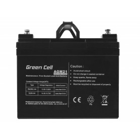 Green Cell - Green Cell 12V 33Ah VRLA AGM Battery with B3 Terminal - Battery Lead-acid  - GC057 www.NedRo.us