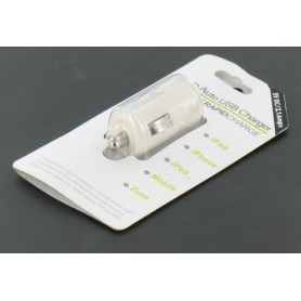 NedRo, USB 2.1A Car Charger white for Smartphones and Tablets YAI475-1, Auto charger, YAI475-1, EtronixCenter.com