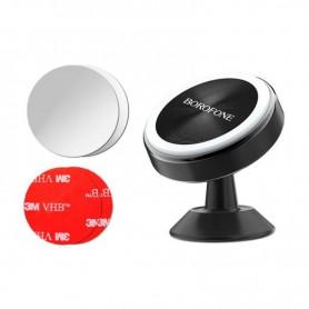 BOROFONE - BOROFONE BH6 metal magnetic in-car dashboard phone holder - Car magnetic phone holder - H045-CB