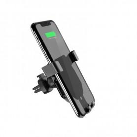 BOROFONE, Borofone BQ4 AirDock Snel draadloos opladen Autohouder Telefoonhouder / lader, Auto magnetisch telefoonhouder, H046...