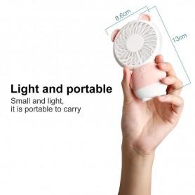 NedRo - Ventilator portabil Dharma Bear Mini LED cu control de lumină și viteză - Gadget-uri computer - TB010 www.NedRo.ro