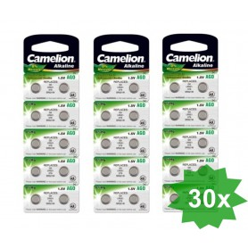 Camelion - Camelion L521, AG0, 384, SR521W, G0 1.5V Alkaline - Button cells - BS400-CB