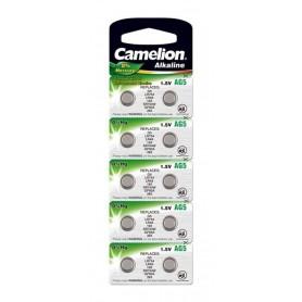 Camelion LR48, AG5, LR754, 193, G5, GP93A, 393, SR754W 1.5V Alkaline