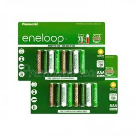 Eneloop - AAA HR03 Eneloop Botanic (limited edition) 750mAh Oplaadbare Batterijen - AAA formaat - NK436-CB www.NedRo.nl