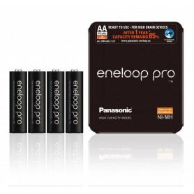 Eneloop, Panasonic eneloop PRO Sliding AA R6 2550mAh 1.2V Oplaadbare Batterij, AA formaat, NK437-CB, EtronixCenter.com