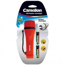 Camelion - Camelion rubber flashlight including 2x AA batteries - Flashlights - BS404-CB www.NedRo.us